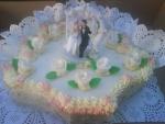 svatební dort vějíř    č.428