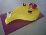 slza dort- celá v marcipánu motýlci, růžičky    č.390