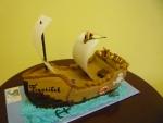 - pirátská loď dort č.380