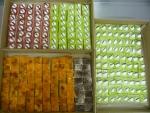fondové kostky-jahodový sen,hruška,ruská,tiramisa,