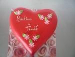dort srdce marcipánové -  zaoblené    č.385