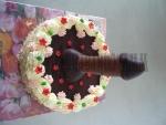 pro dospělé dort s čokoládovým fešákem-malý dort     č.369