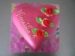 dort marcipánové srdce zaoblené 3 růže