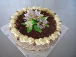 dort kulatý vrch čokoláda s květy