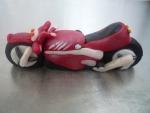 figurky - marcipánová motorka červená