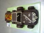 traktor s vlečkou dort celý v čokoládě   č.333