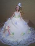 svatební  dort nevěsta potáhlá marcipánem     č.284