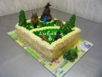 dinosauři prales II dort