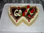 dvojsrdce  dort vrch čokoláda  č.100