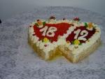 dvojsrdce dort vrch želé,ovoce   č.71