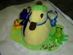 zvířátko kačenka marcipánová dort  č. 221