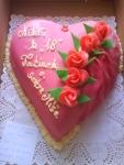 srdce dort ,marcipánové zaoblené    č.286