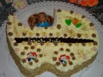 kočárek dort vrch sypaný ořechy   č.88
