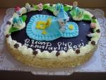 dort ovál  křtiny s miminkem    č.225