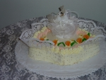 svatební dort vějíř s holibicemi   č.43