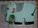 zvířátko slon dort     č.202