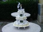 svatební 3 patrový dort    č.01