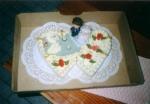 svatební dort dvojsrdce jako labutí jezero     č.109