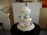 svatební 3 patrový dort s římskými sloupy (od 2 do 5 pater)   č.160