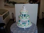 svatební 3 patrový dort    č.095