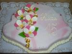vějíř dort celý v marcipánu     č. 216