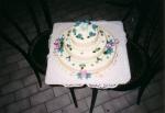 kulatý třípatrový dort marcipánový     č.166