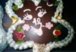 čtyřlístek  dort -  vrch čokoláda č.132