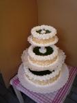 svatební dort  3 patra dort-hruškový fond    č.427