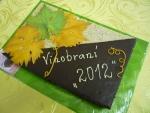 štafetka velká dort s vinnými listy   č.470