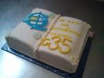 kniha otevřená dort - firemní logo č.460