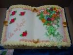 kniha otevřená dort  č.600