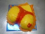 slaný dort dámský zadeček s tangama