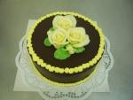 dort kulatý celý v čokoládě s velkými růžemi  č. 471