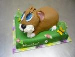 zvířátko  dort králíček na paloučku č.615