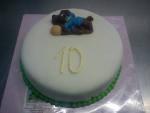 dort kulatý - celý v marcipánu -figurka pejsek č.529