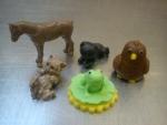 marcipánové figurky na dort koník,kočičky,žabička,sova