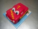 Cars auto - Blesk McQueen malý  dort č.572