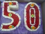 číslice dort - vrch jahody,želé č.481