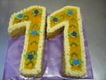 číslice dort ,vrch želé,kiwi č.478