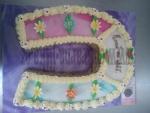 dort podkova vrch marcipán s kvítečky  č.454