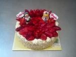 dort kulatý čerstvé jahody gel , jeptiška a zdravotní sestřička