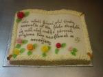 svatební dort  kniha otevřená - verš  č.455