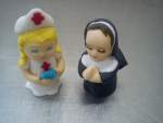 figurka marcipánová zdravotní sestřička,jeptiška