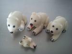 figurky  marcipánové lední medvědi