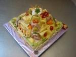 slaný dort 3 patra sýrový s šunkou  3,715