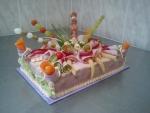 slaný dort obdelník šunkový   3,360kg   30x20