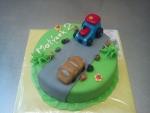 kulatý dort  traktor,auto č.547