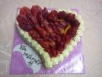 dort srdce čerstvé jahody v gelu