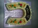 dort podkova čokoláda,ořechy,růžičky  č.514