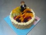 dort kulatý,čerstvé ovoce,kompotované ,figurka mladý muž v kvádru   č.484